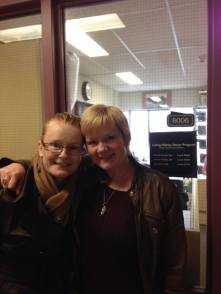Angie and I at St. Paul's Hospital. Our first meeting post surgery.